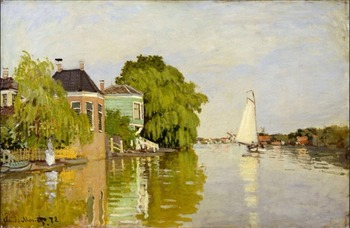 High quality Oil painting Canvas Reproductions Houses on the Achterzaan (1871) By Claude Monet hand painted