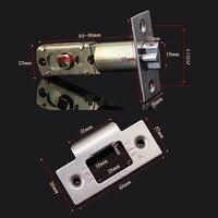 라운드 장붓 구멍 도어 잠금 세트 (도어 두께: 35-50mm) 옵션 3 색
