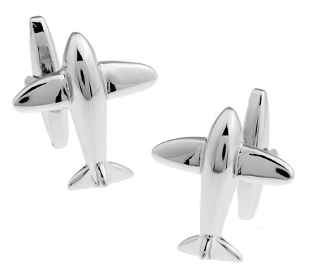 Men Gift Aircraft Cufflinks Novelty Plane Design Silver Color Copper Cuff Links Wholesale&retail