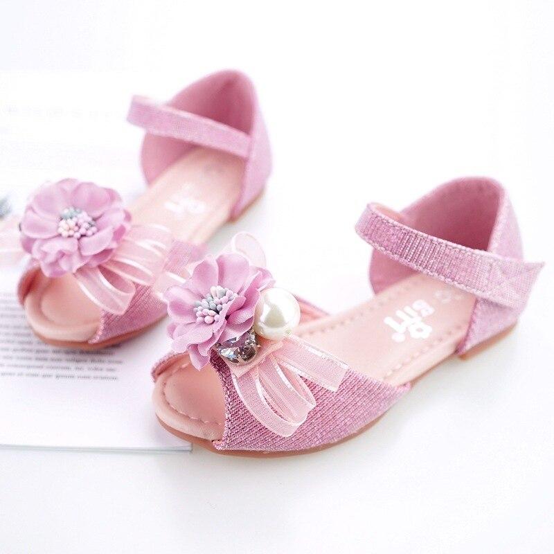 Filles sandales filles été nouveau Dot Bow enfants chaussures pour filles mode princesse poisson tête enfants filles chaussures