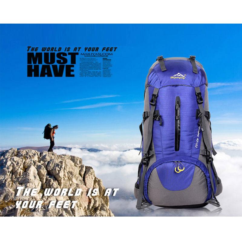 Prix pour Multi-fonction 45 + 5L Sac À Dos Plein Air Voyage Escalade Sacs À Dos Étanche Sac À Dos Alpinisme sac En Nylon Camping Randonnée