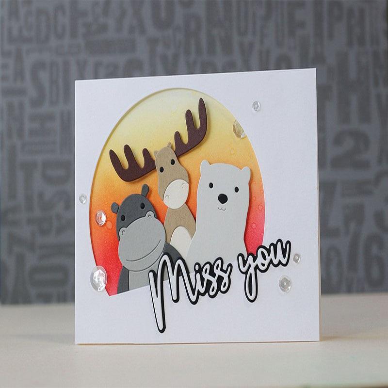 Cute Cartoon Cow Metal Die Cuts Metal Cutting Dies For DIY Scrapbooking Photo Album Embossing Card Crafts New 2018 Die for Child ...