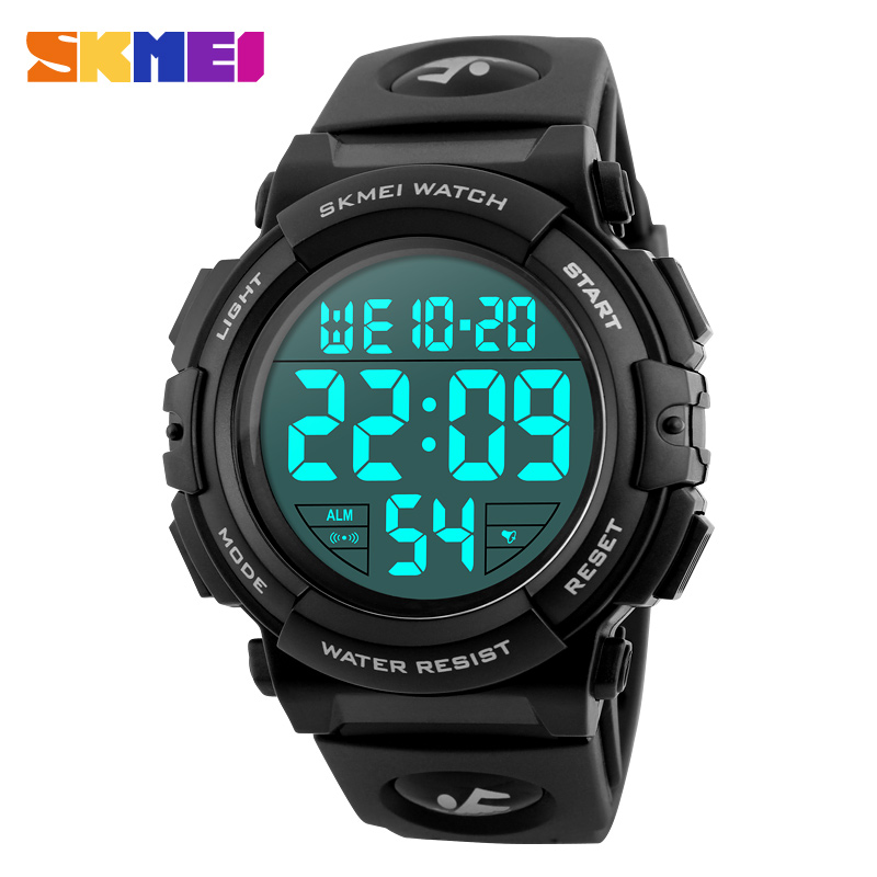 SKMEI Reloj para hombre Reloj Hombre Marca de lujo superior 2018 Reloj deportivo Reloj electrónico digital para hombre 50M Relojes para hombres a prueba de agua Nuevo 1258