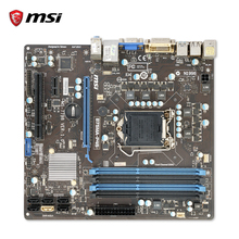 MSI B75MA-P45 Oryginalne Używane Gniazdo LGA 1155 i3 i5 i7 Pulpit Płyta B75 SATA3 DDR3 32G MICRO-ATX
