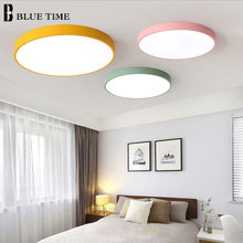 Colorful Modern LED Ceiling Light Lamps Bedroom Living Room Dining Room Metal Round LED Ceiling Lamps Lighting Fixture 110V 220V macarons ceiling lamps rose colors metal lamp body acrylic lamp shade colorful post modern ceiling light led lighting fixture