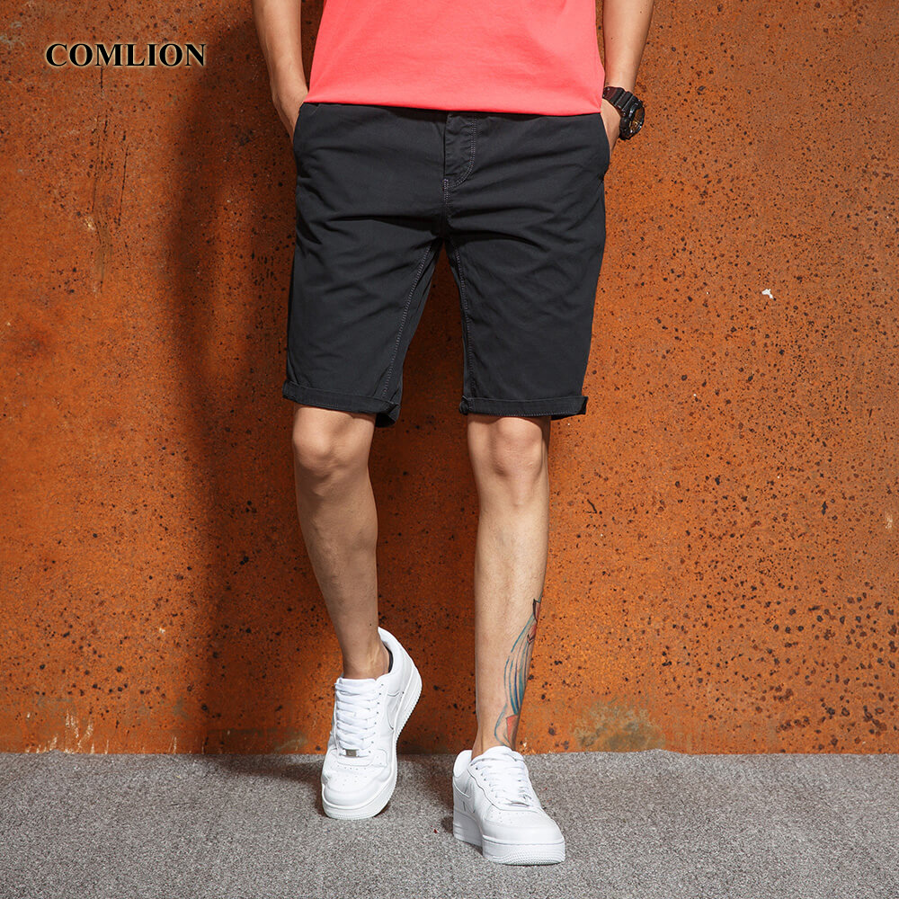 COMLION Casual Shorts Men Summer Brand New Army Style Boardshorts Breathable Fashion Knee-Length Cotton Loose Work Shorts F15