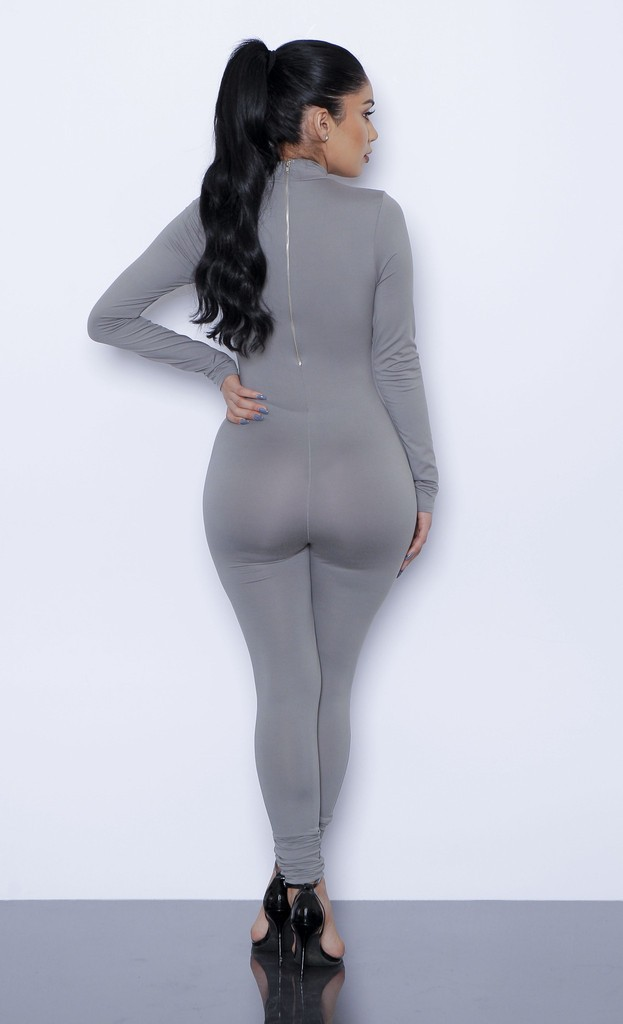 HTB1SE6ILpXXXXbOXpXXq6xXFXXX6 - New Hot Casual Women One Piece Jumpsuits Long Sleeve turtleneck Bodycon Back Zipper Long Pants Sexy Outfits Grey Rompers