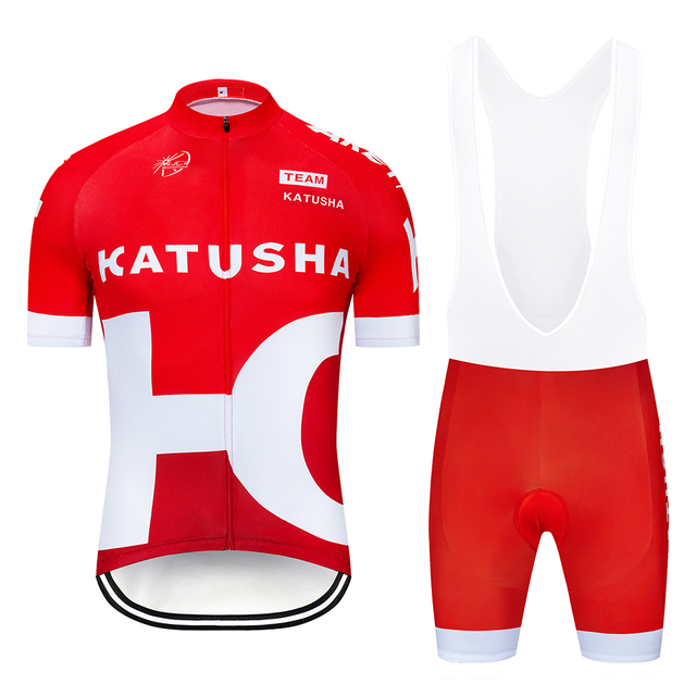 502d43e69 2019 Men s Pro Team Katusha Cycling Jersey Set Short Sleeve Quick Dry 12D  GEL Padded MTB Bike Cycle Clothing Maillot Ciclismo