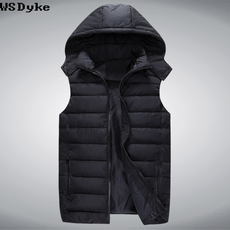 2017 Winter New Thick Warm Chaleco Para Hombre Casual Plus Size Hooded Weste Herren