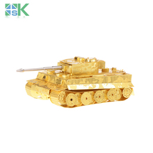 Supper Challenge Puzzle 3D metal model Tiger Tank Military fan's collection 3D puzzle Wholesale price Etching Children's gi Free