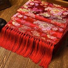 Hoa tinh tế Phong Cách Trung Hoa Khăn Quàng Khăn Choàng Sang Trọng Nam Kinh Yunjin Vắt Khăn Nữ Casual Nhét Năm Mới Bán Quà Tặng