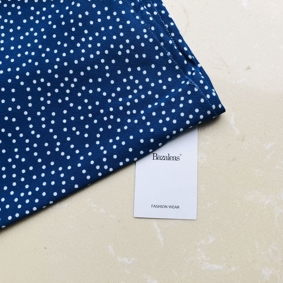 050af17f1d945 Bazaleas France Navy dots Print summer Dress Vintage Spaghetti straps Midi  Dress Fashion chic vestidos Slim drop shipping
