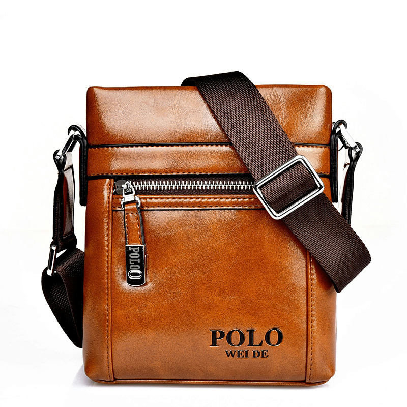 2015 sell famous brand design leather men bag casual business ...