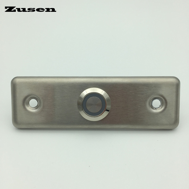 Zusen NEU! 16mm stärke türklingel druckschalter mit ring blaue LED ...