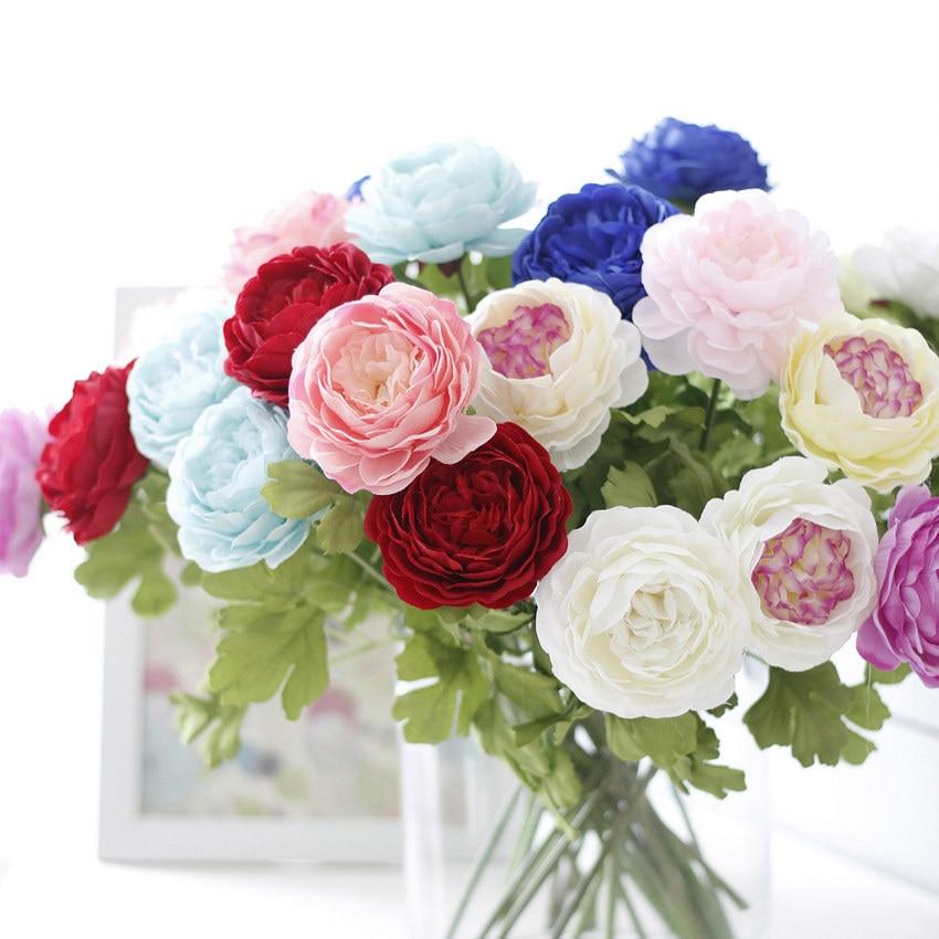 10 unids/lote  Moda Nueva Flor Artificial Ramo de flores de Seda de Imitación He