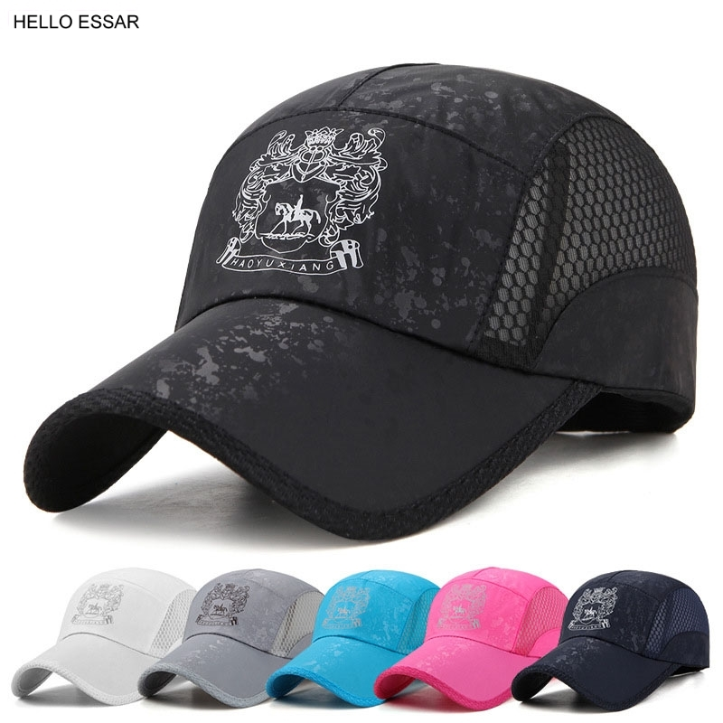 NEW Rapid Drying Baseball Cap Men Women Snapback Fitted shade breathable Golf Sports Hat Cap Outdoors Travel Trucker Hats C1134