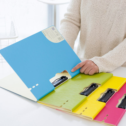 Creative Office A4 Clip File Folder Business Clipboard Multi Color PP Plastic Clipboard Folder For Documents plastic file folder a3 data book color page 20 insert clip 8k drawings album poster a3 file folder for office
