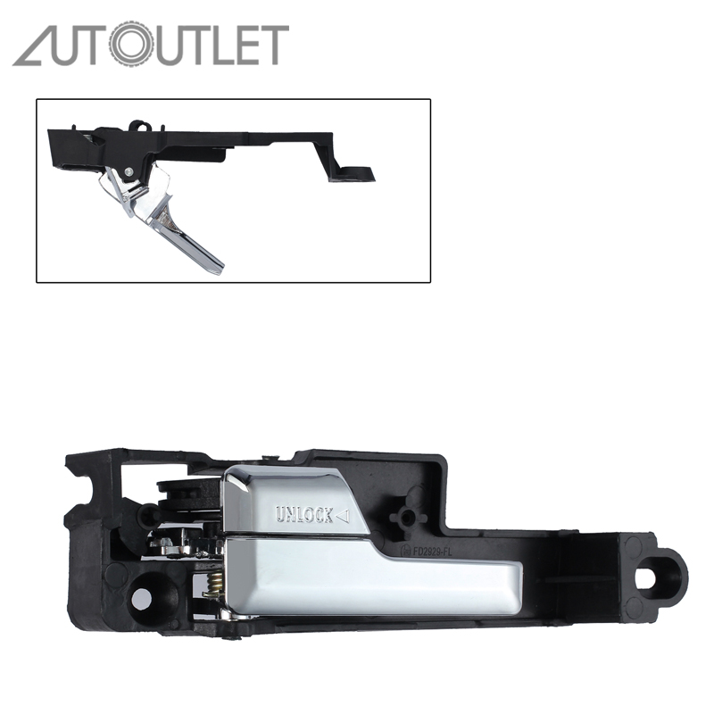 AUTOUTLET Inside Interior Door Handle Chrome Front Left Driver Side for Ford 06-12 Fusion 6E5Z5422601A Replacements