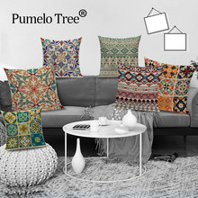 Boho Retro Pillow Case Abstract Geometric Decoration Throw Pillows Square Cushion Cover Home Decoration Bed Sofa Cushions Cover(China)