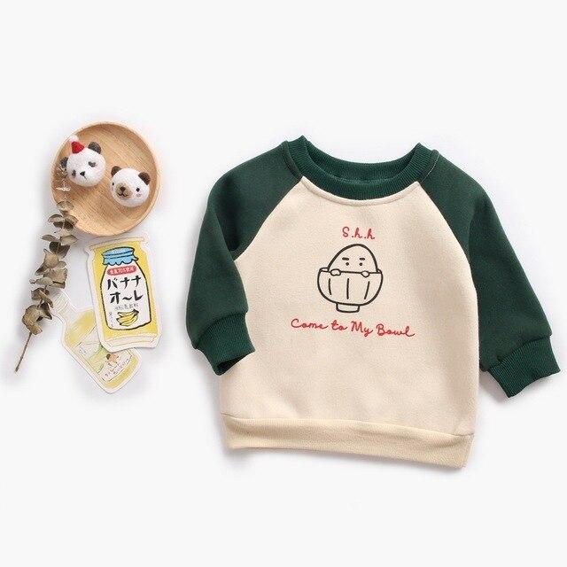 Baby Boys Girls Hoodies Clothes Children Winter Thick Warm Cotton Sweatshirts Toddler Casual Kids Cartoon Velvet Tops Costume Hoodies & Sweatshirts