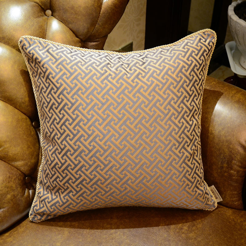 Top grade Chenille jacquard luxury throw pillows cushions without