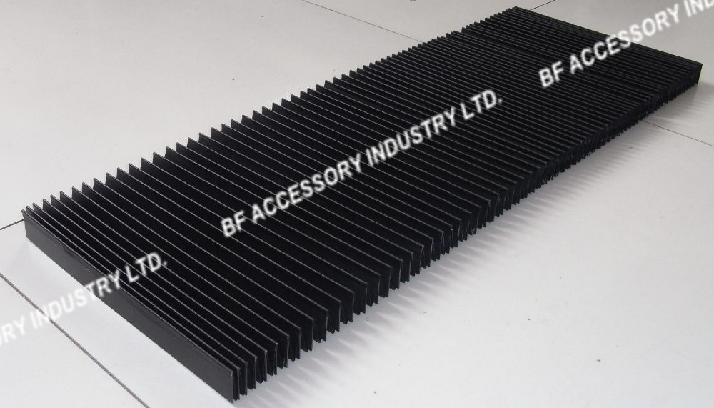 H25mm W330mm L1000mm Flat Flexible accordion type protective bellow covers for cnc