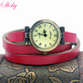 shsby fashion hot-selling women's long Genuine leather female watch ROMA vintage bronze watch women dress watches
