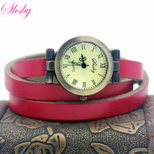 shsby fashion hot selling women s long Genuine leather female watch ROMA vintage bronze watch women