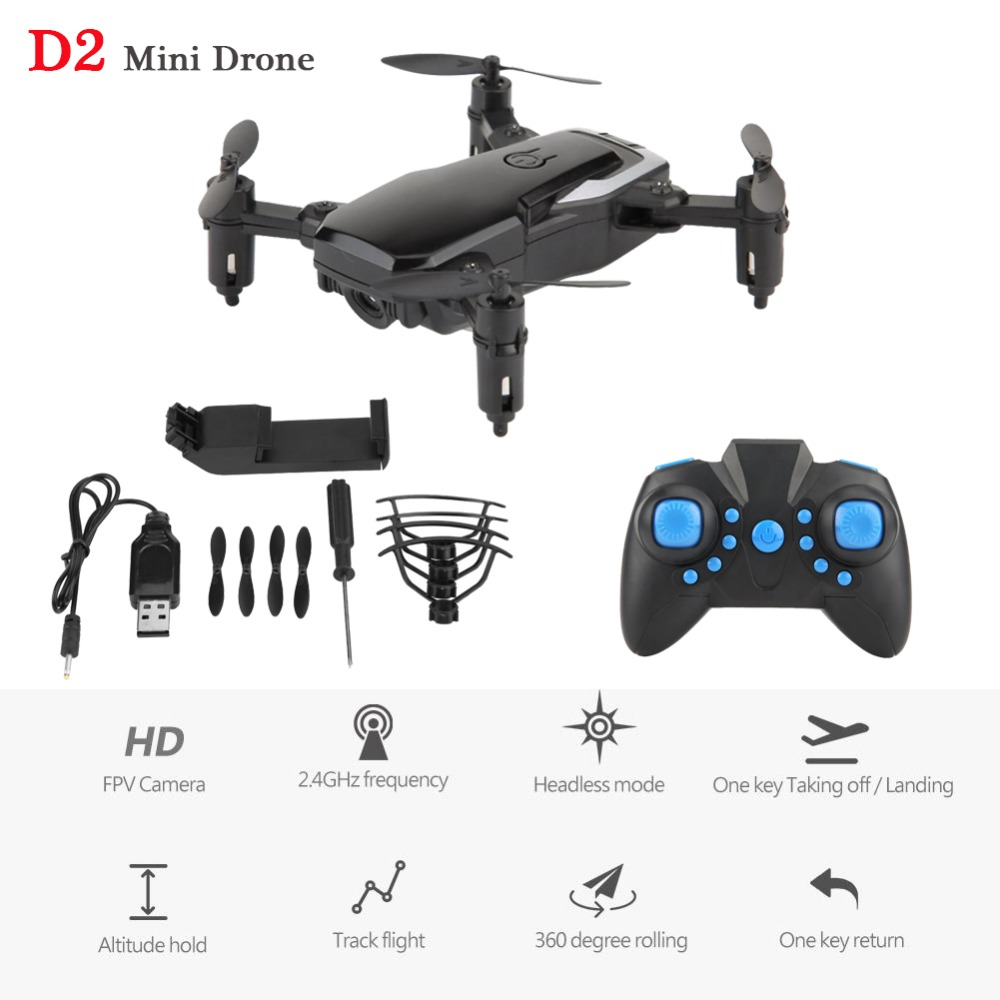 Foldable Mini RC Drone Quadcopter With Wifi FPV 0.3MP Camera 2.4GHz Headless Mode 360 Degree Rolling Remote Control Drone Toy