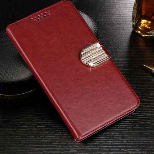 フリップ Pu レザー財布ケース DEXP ため Ixion XL155 X150 金属 MS650 MS550 MS255 要素の保護電話ケースカバー