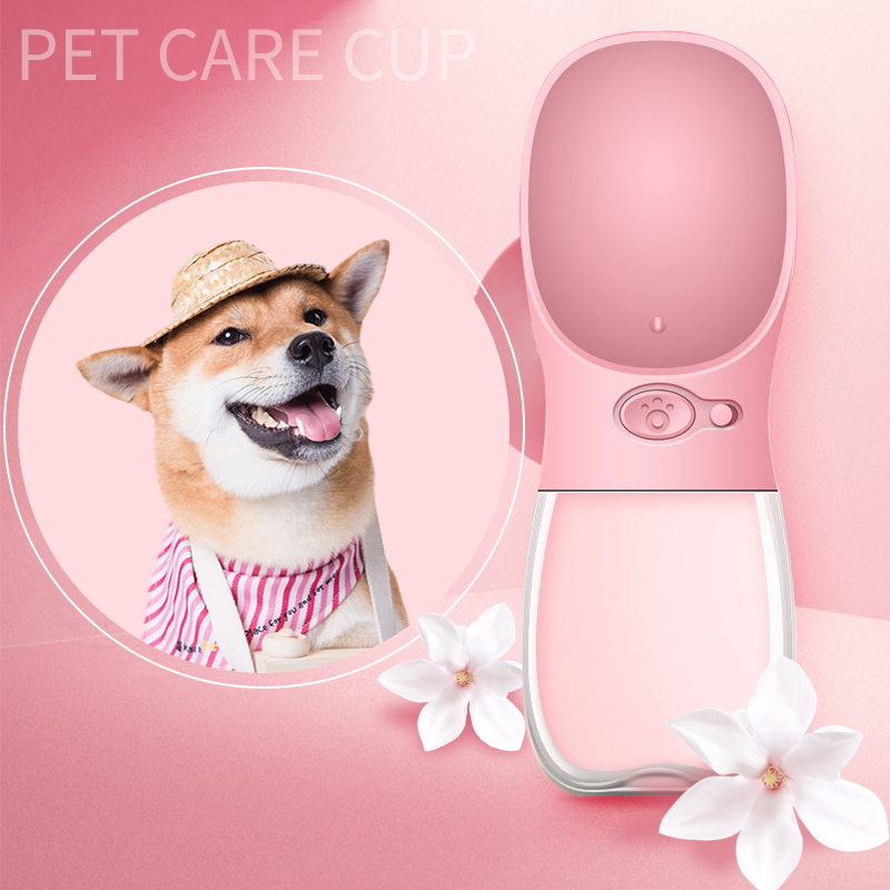 350 Ml Leak Proof  Pet Water Bottle Dispenser Dog Cat Travelling Drinking Water Cup Feeder Portable Outdoor Dog Water Dispenser