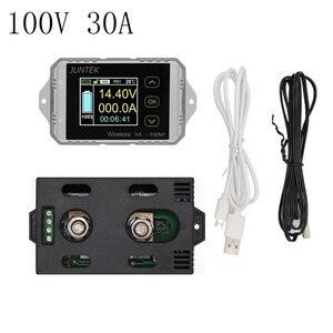 DC 100 в 30A цифровой цветной ЖК-дисплей беспроводной измеритель напряжения измеритель мощности кВт/ч батарея кулометр тестер емкости контроль...