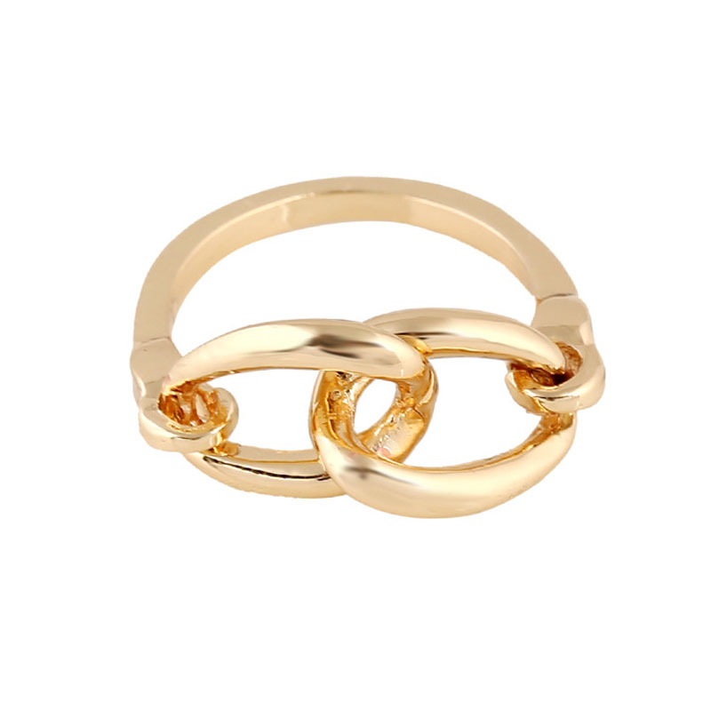 line Shop Fashion Gold Ring Male Simple Punk Thick Chain Ring