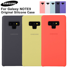 Samsung Official Silicone Soft Back Cover For Galaxy Note 9 Note9 Phone Housing Fashion Shockproof