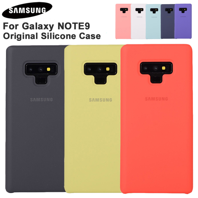 Samsung Official Silicone Soft Back Cover For Samsung Galaxy Note 9 Note9 Phone Housing Fashion Soft Back Cover Phone Shockproof