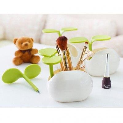Free shipping BF050 Creative life multifunctional natto desk box makeup box with ball pen holder storage box 12*10*9CM