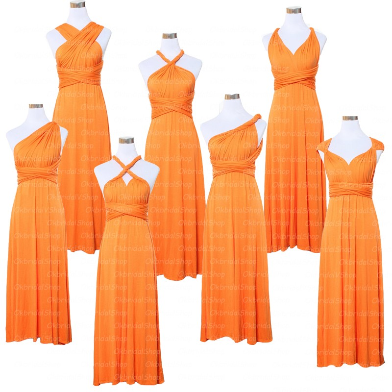 Online Buy Wholesale cheap orange bridesmaid dresses from ...
