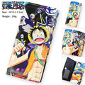 Flodable One Piece Anime Zipper Long Wallet Purse Bag PU Leather Pencil Pen Case Bag Cosmetic Make Up Bag