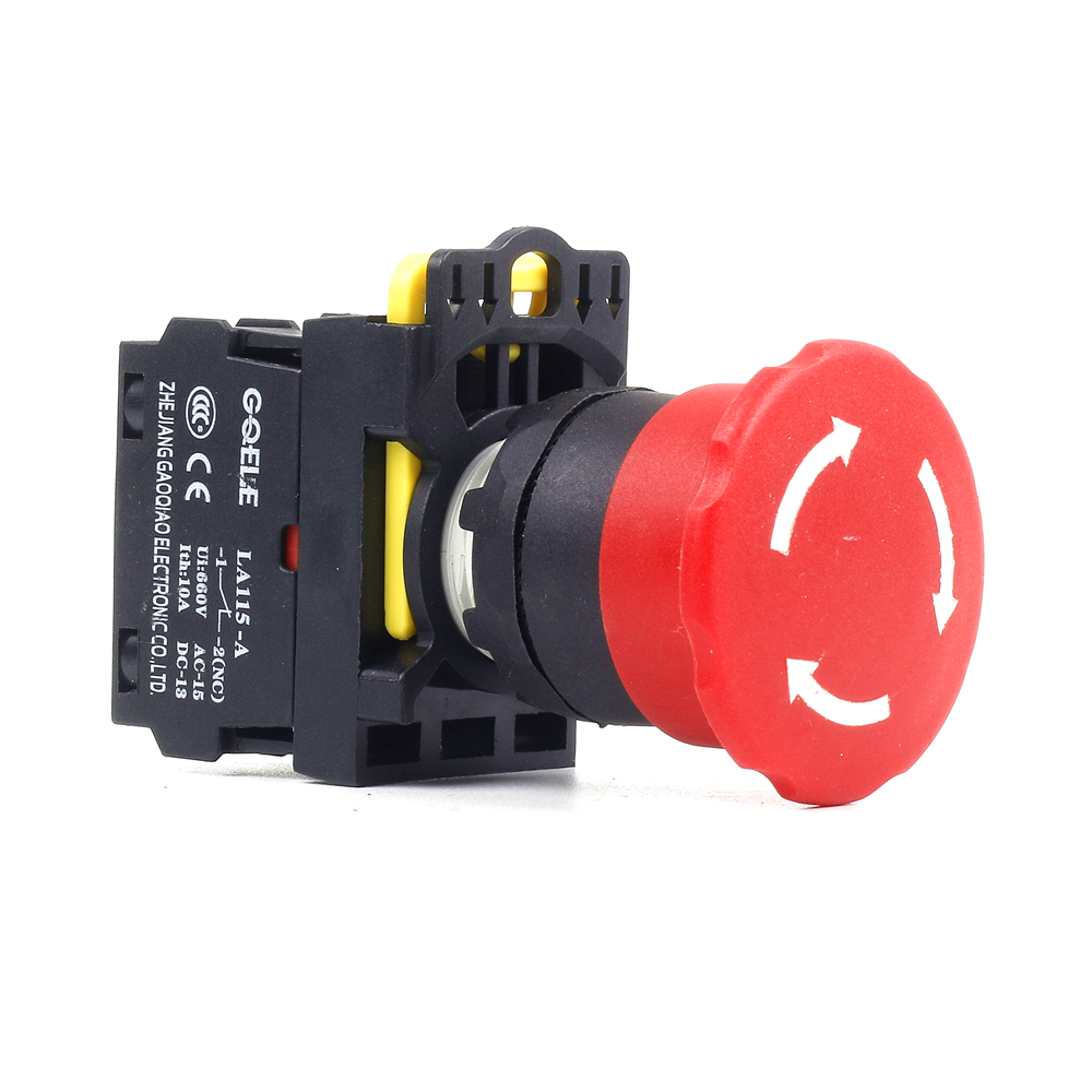 5 PCS Push button switch Emergency stop pushbutton IP40 1NO 1NC 1N0+1NC 2NO 2NC 3NC LA115-A1-03ZS