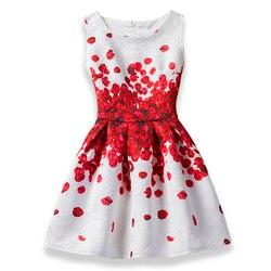 2019 mädchen Kleid Sommer Schmetterling Floral Print Jugendliche Kleider für Mädchen Designer Formale Party Kinder Vestido Mädchen Kleidung