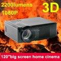 1 шт. бесплатная доставка новый домашний кинотеатр 2200 Lumens tft-hdmi USB 1080 P жк-мини FUll hD видео 3D из светодиодов жк-проектор Proyector Projetor лучемет