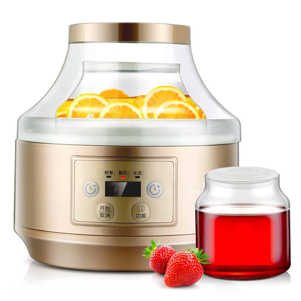 ZCW-S08 Yogurt Machine Home Fully Automatic Fruit Self Made Enzyme Natto Machine High Capacity Rice Wine Yogurt Maker purple yogurt makers rice wine natto machine household fully automatic yogurt glass sub cup liner multifunctional kitchen helper