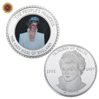 WR Business Gifts Customized Princess of Wales Challenge Metal Coin Home Decorative Art Ornament for Collection