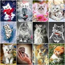 5d pintura diamante quadrado completo gato strass imagens animais diamante bordado diamante mosaico venda desenhos animados beadwork