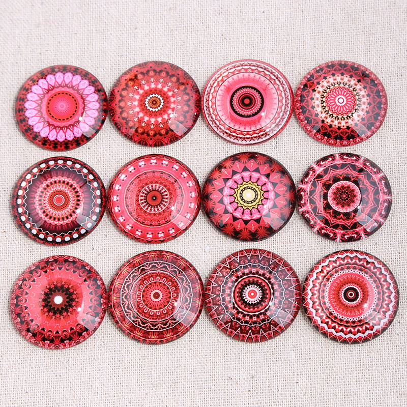 onwear mix red mandala photo round glass cabochon 10mm 12mm 14mm 16mm 18mm 20mm 25mm 30mm diy jewelry findings componentsonwear mix red mandala photo round glass cabochon 10mm 12mm 14mm 16mm 18mm 20mm 25mm 30mm diy jewelry findings components