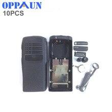 OPPXUN 10 vivienda cubierta de la caja de cáscara de superficie negro cubierta protectora contra el polvo perilla para Motorola GP328 gp340 pro5150 radio
