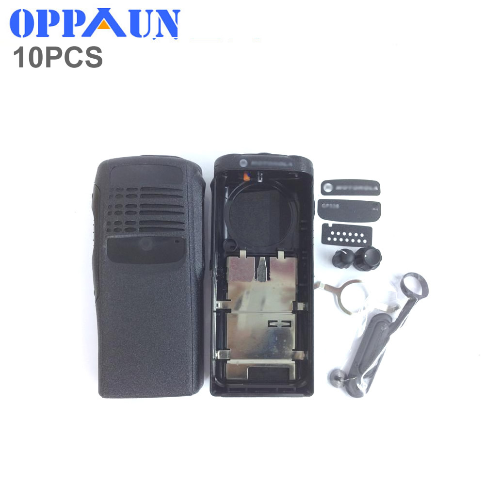 OPPXUN 10set Housing Shell Case Cover Black Surface Protective Cover Against Dust Knob For Motorola GP328 Gp340 Pro5150 Radio