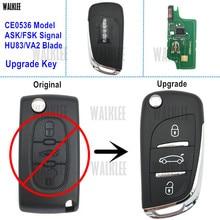 ووكلي ترقية دعوى مفتاح بعيد لسيارة سيتروين C2/C3/C4/C5/بيرلينجو/بيكاسو قفل الباب التحكم (CE0536 HU83/VA2 ASK/FSK)