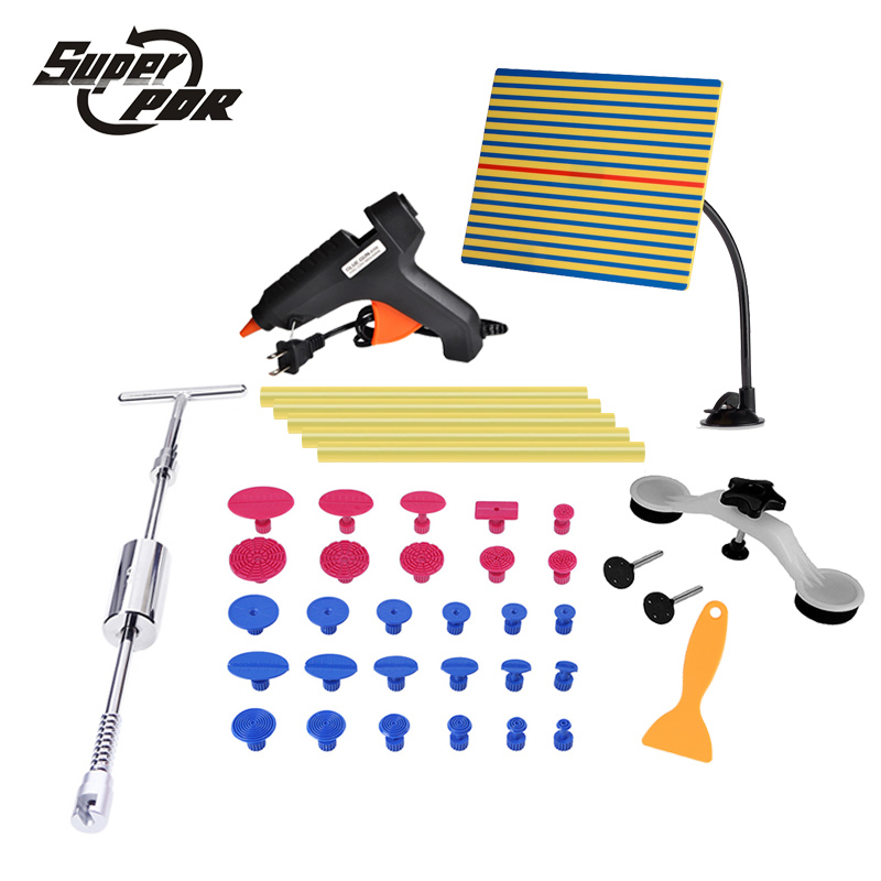 38 pcs hand tools Paintless Dent repair Tools Reflector board dent puller lifter glue gun glue sticks best pdr tools 1 pair boxing training sticks target mma precision training sticks punching reaction target muay thai grappling jujitsu tools