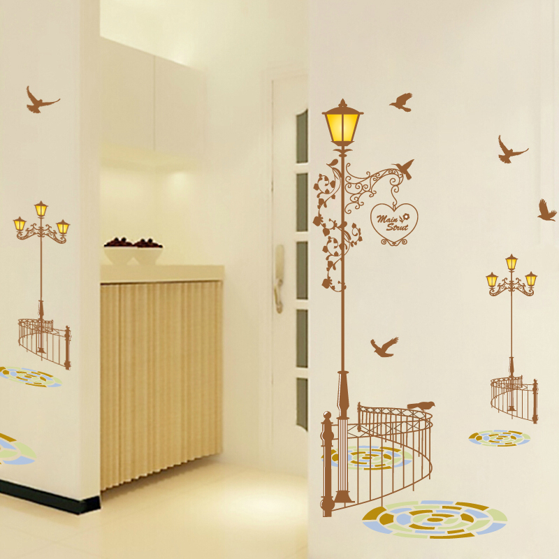 Lights Railing Decorative Wall Stickers Romantic Wedding Room - Wall decals hallway